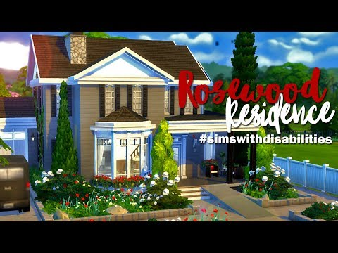 The Sims 4 | Speed Build: Rosewood Residence #simswithdisabilities