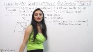 Example 13, Page No.14.16 - Quadrilaterals (R.D. Sharma Maths Class 9th)
