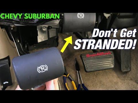 How To Fix A Broken Emergency Brake Release Youtube
