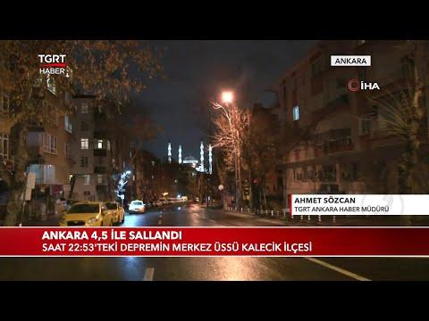 Ankara'da 4,5 Büyüklüğünde Deprem Meydana Geldi