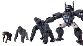 Animal Jungle Tree Under Attack Transformers Beast Wars -  Go! Protect Gorilla and Optimus Primal