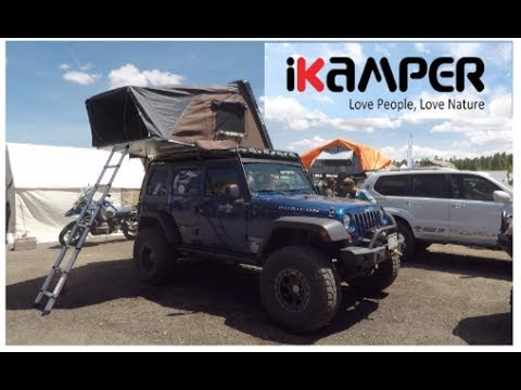 one of the biggest hardshell rooftop tents by ik&er & one of the biggest hardshell rooftop tents by ikamper - YouTube