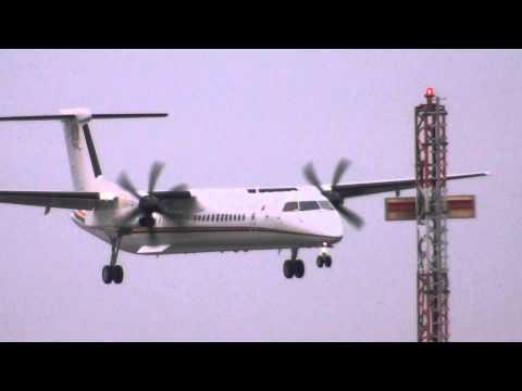 Angola Air Force Dash 8 Landing @ Maastricht Airport 24-10-2014
