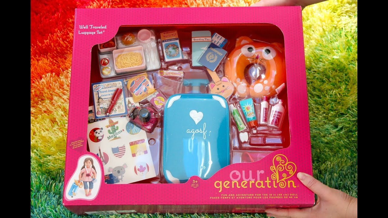 American Girl Doll Travel Set And Packing For American