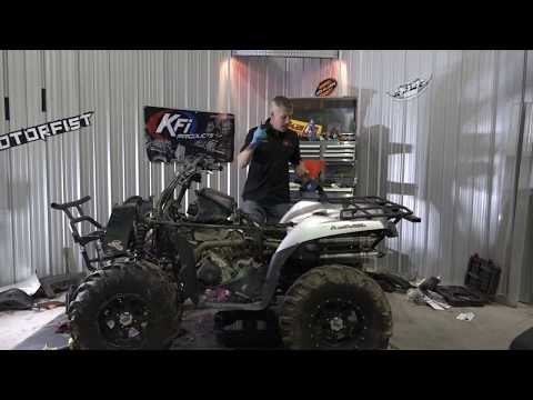 SWAMPED ATV engine and diff oil change, Kawasaki Brute Force 750