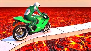 EXTREME LAVA TIGHTROPE! (GTA 5 Funny Moments)