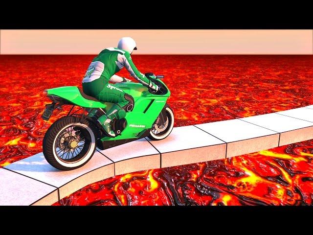 EXTREME LAVA TIGHTROPE! (GTA 5 Funny Moments)