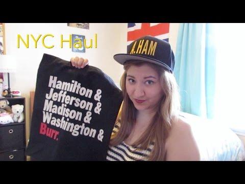 NYC Haul: Topshop and Hamilton Merch