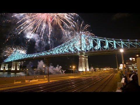 Jacques-Cartier Bridge Light Show (4K Video) Not Available on Cell Phones - Show Intégrale Music