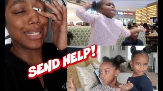 BEING A SINGLE MOM WITH TWO KIDS & A TODDLER FOR A DAY | Ellarie