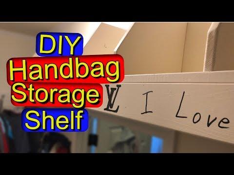 DIY Purse and Handbag Storage