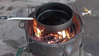 когда нет света,газа и горячей воды печь из автомобильного диска с рубашкой.(На правах рекламы: ЭйрПромВент - это климатическое оборудование, системы вентиляции и отопления. http://goo.gl/64O..., 2015-12-18T02:15:09.000Z)