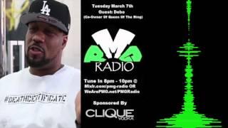 Debo Speaks on QB Black Diamond & T-Rex Status with Queen Of The Ring on PMG Radio