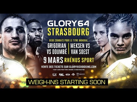 GLORY 64 Strasbourg: Official Weigh-Ins