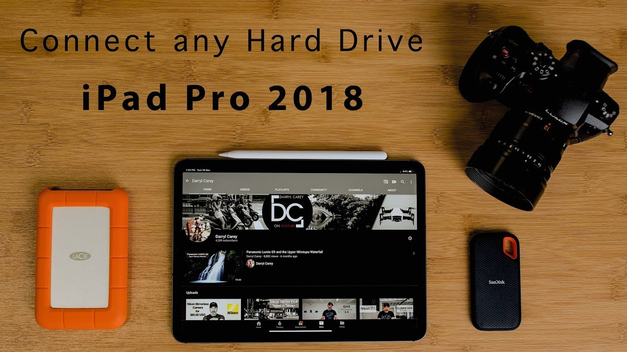connect any hard drive to the ipad pro 2018 usb c gnarbox 4k youtube. Black Bedroom Furniture Sets. Home Design Ideas