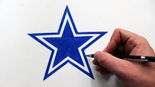 Como Desenhar a logo Dallas Cowboys - (How to Draw Dallas Cowboys logo) - NFL LOGOS #14