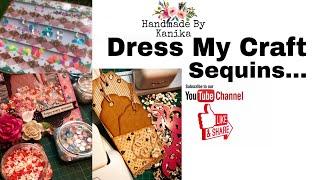 66. Dress My Craft Sequins | DIY SHAKER PHOTO FRAME TUTORIAL using DMC Products | DIY TUTORIAL