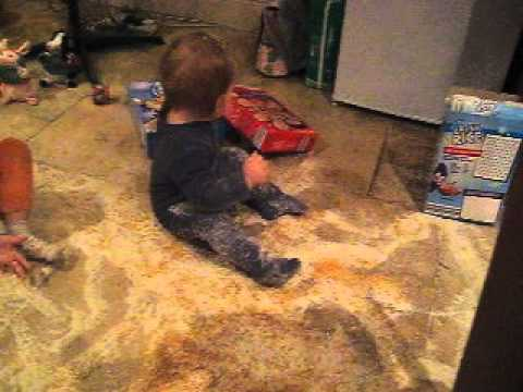 Kids make a mess tipping out all the cereal