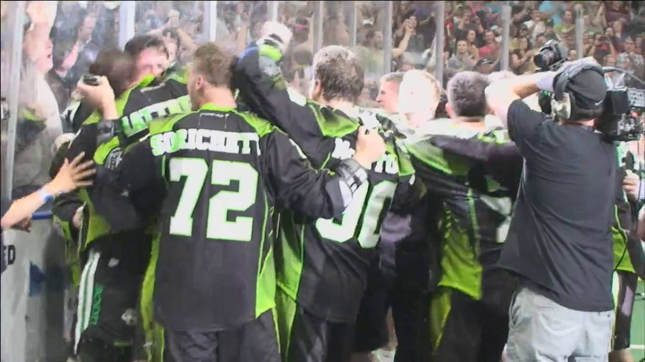 NLL: Saskatchewan Rush celebrate 2016 Champion's Cup title