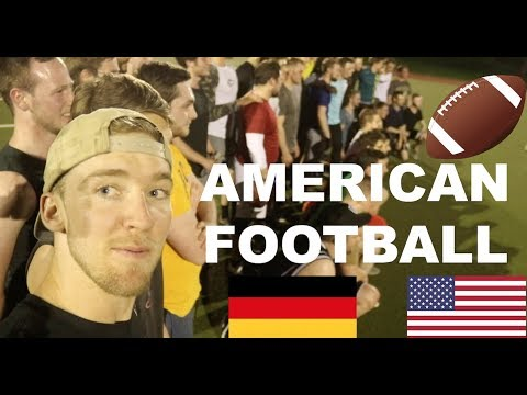 AMERICANS teach GERMAN UNIVERSITY students FOOTBALL