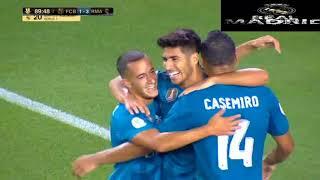 Real Madrid vs Barcelona 3-1 Marco Asensio goal 2017 تعليق عربي
