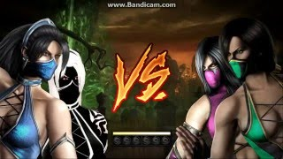 MKKE Kitana and Drow Clone Battle VS Jade and Milena part 01