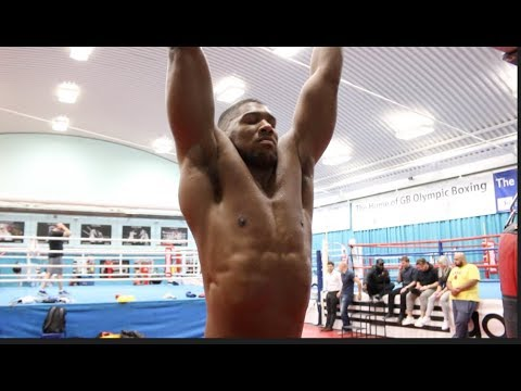 'I AM A UNIT!' - CLAIMS ANTHONY JOSHUA - STRETCHING SESSION AHEAD OF CARLOS TAKAM CLASH ON OCT 28TH