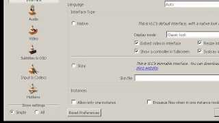 setting vlc player to play cctv file 264