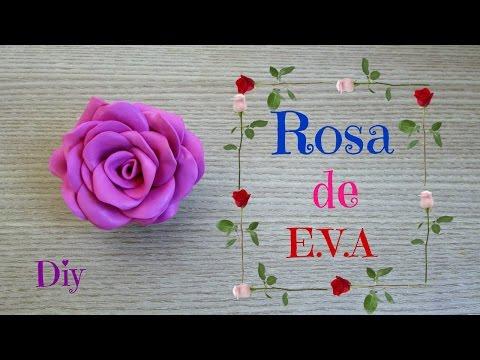 Como fazer rosa de E.V.A | DIY