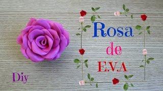 Como fazer rosa de E.V.A