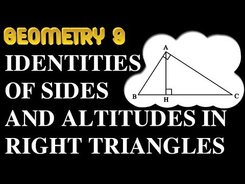 Identities of sides & altitudes in right triangles | Online Courses | Geometry 9 | Math Garden | 4K