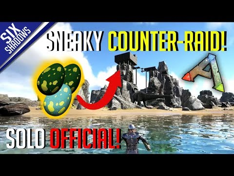 SNEAKY COUNTER-RAID! (got enemy eggs) | Solo PvP Official Servers - Ark: Survival Evolved