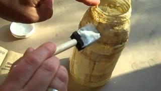 Repeat youtube video Decoupage Jar Vase Craft Tutorial