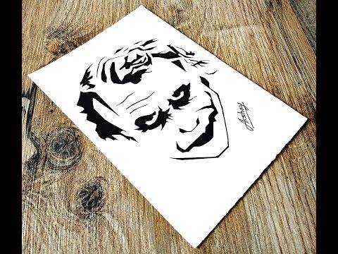 f8b7149db6481 How to draw The Joker - Stencil art - Art Maker Akshay