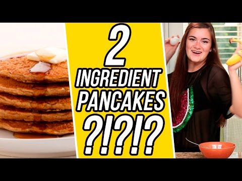 CloeCouture's 2 Ingredient Banana Pancakes! | 3 Items Or Less