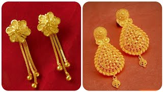 Gorgeous And Latest Gold DROP Earrings Collection Bridal gold Earrings