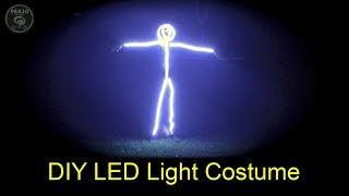 DIY LED Light Stick Figure Costume // Easy DIY Project