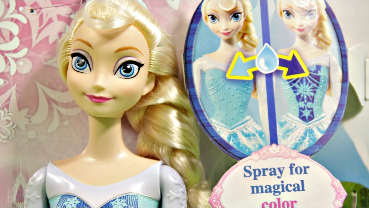 Royal Color Change Elsa Doll Elza Kolorowa Przemiana Disney Lego 41060 Princess Sleeping Beautyamp039s Bedroom Frozen Bdk33 Youtube