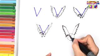 How To Draw and Color a Vulture Easy Steps By Step ✅How To Teach Baby To Speak English