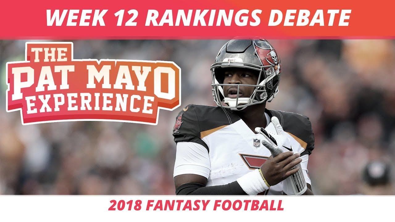 2018 Fantasy Football Week 12 Rankings Starts Sits And Sleepers