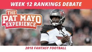 2018 Fantasy Football — Week 12 Rankings, Starts, Sits and Sleepers
