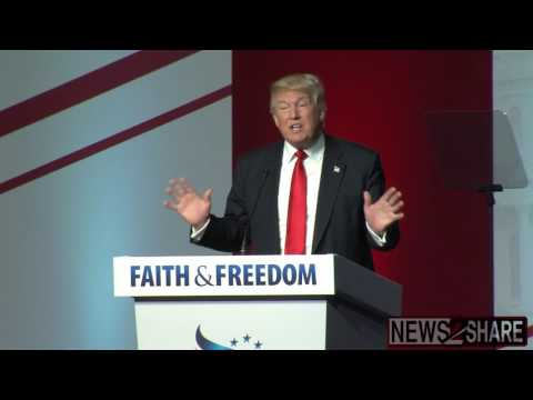 Donald Trump Speaks at Faith & Freedom Conference