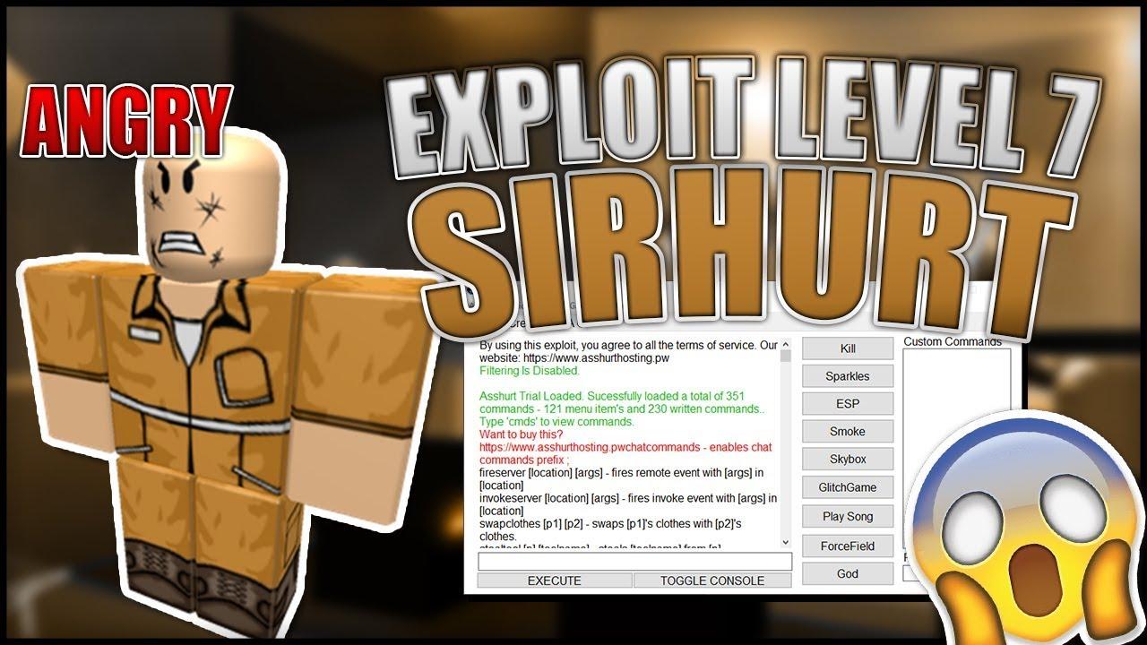 🔥 [NEW] 🔥 ROBLOX EXPLOIT SirHurt LEVEL 7 - Full LUA C , Jailbreak, Script  Hub , ESP
