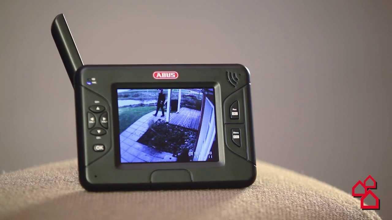 monitor med tr dl st kamera fra abus youtube. Black Bedroom Furniture Sets. Home Design Ideas