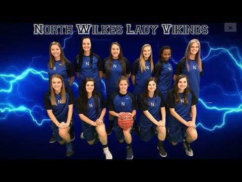 North Wilkes High School Varsity Basketball - Lady Vikings - Senior Night - 2/2/2018