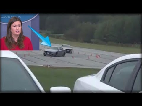 SARAH HUCKABEE SANDERS JUST PEELED OUT IN A SECRET SERVICE CAR AND THE REASON WHY IS AMAZING
