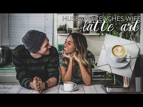 Husband Teaches Wife: Latte Art