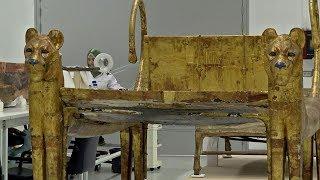 آثار توت عنخ آمون كاملة في المتحف المصري الكبير