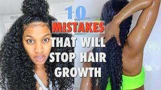 HOW TO GROW HAIR QUICK   10 MISTAKES THAT WILL STOP HAIR GROWTH
