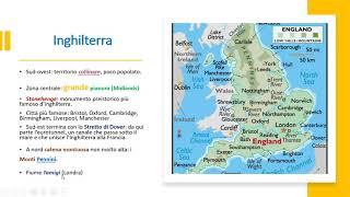 Geografia: il regno unito. / didattica a distanza.